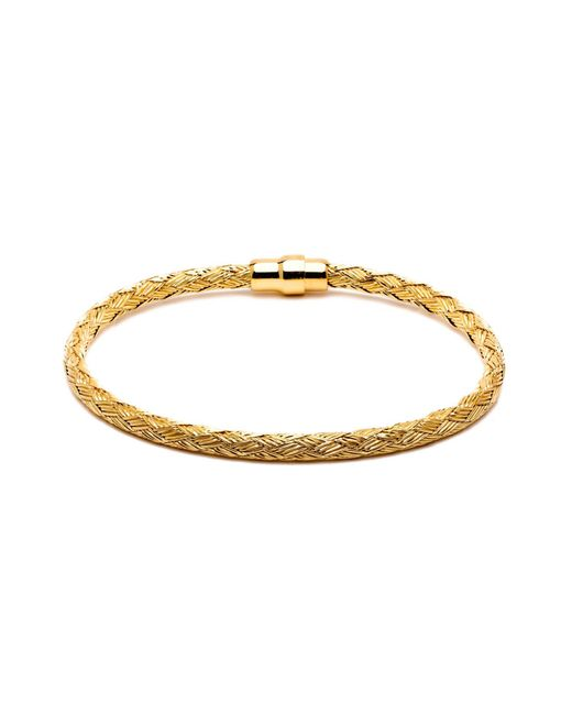 Durrah Jewelry - Metallic Gold Woven Bracelet For Him for Men - Lyst