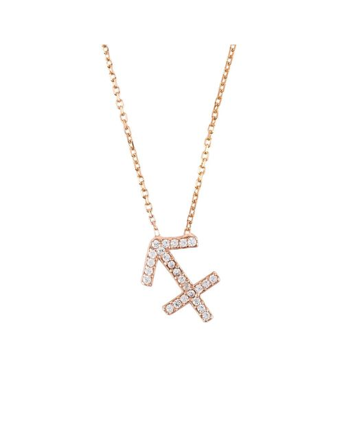 Latelita London - Metallic Sagittarius Zodiac Necklace - Lyst