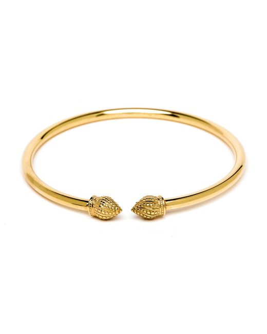 Durrah Jewelry - Metallic Gold Cylinder Bangle - Lyst