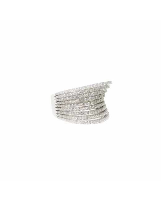 Ri Noor | Metallic Diamond Rows Ring | Lyst