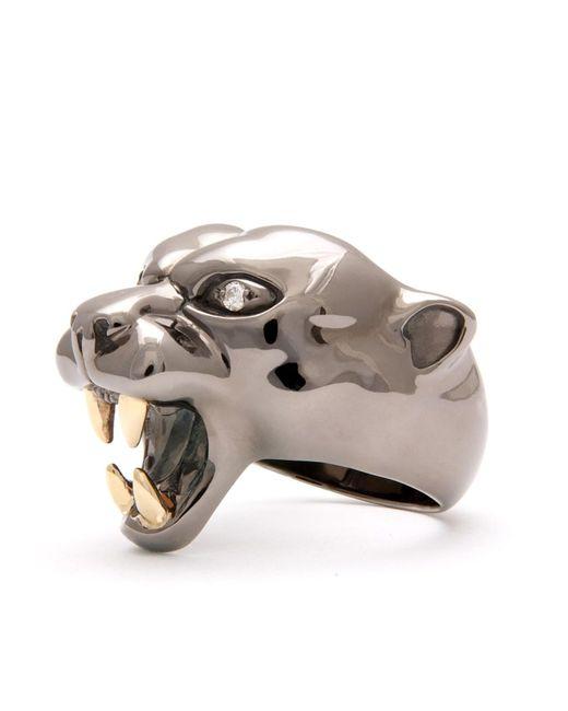 Strange Fruit - Panther Ring Black Rhodium - Lyst