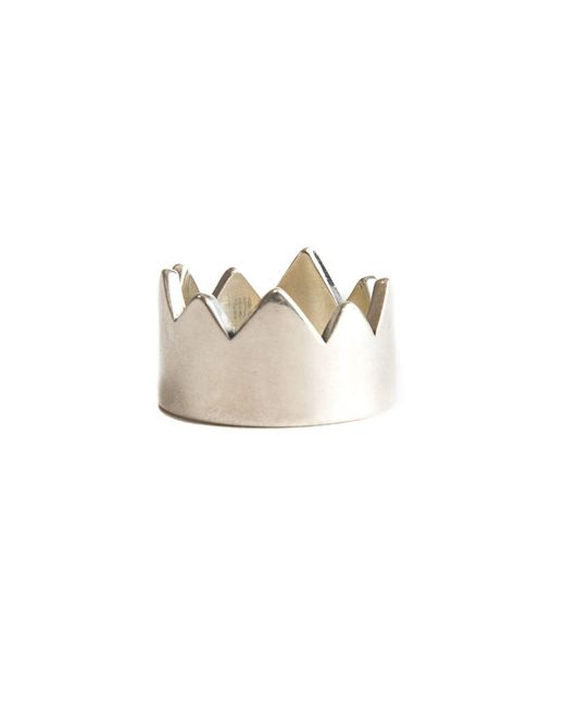 Serge Denimes - Metallic Spiked Crown Ring for Men - Lyst