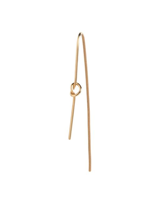 Dutch Basics - Metallic Knot Earring Gold Plated - Lyst