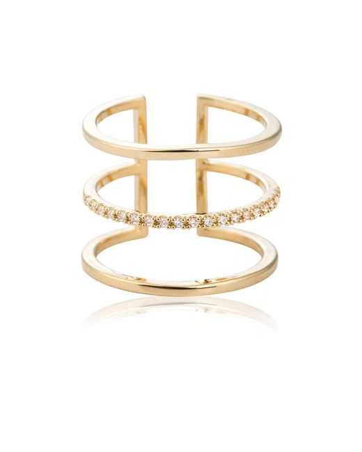 Astrid & Miyu - Metallic Triple Bewitched Ring Gold - Lyst