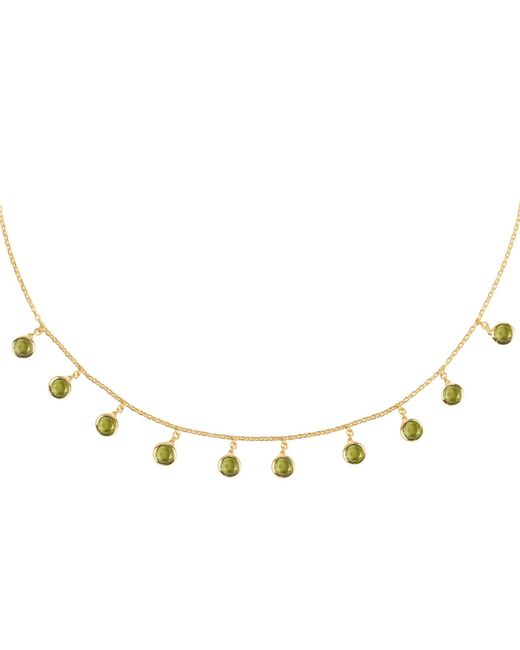 Latelita London - Metallic Florence Round Gemstone Necklace Gold Peridot - Lyst