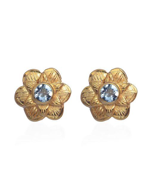 Emma Chapman Jewels | Blue Gypsy Rose Aquamarine Stud Earrings | Lyst