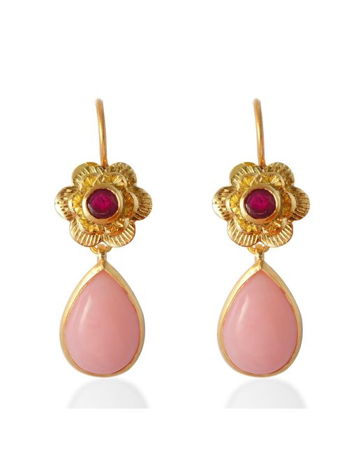 Emma Chapman Jewels | Gypsy Rose Pink Opal Earrings | Lyst