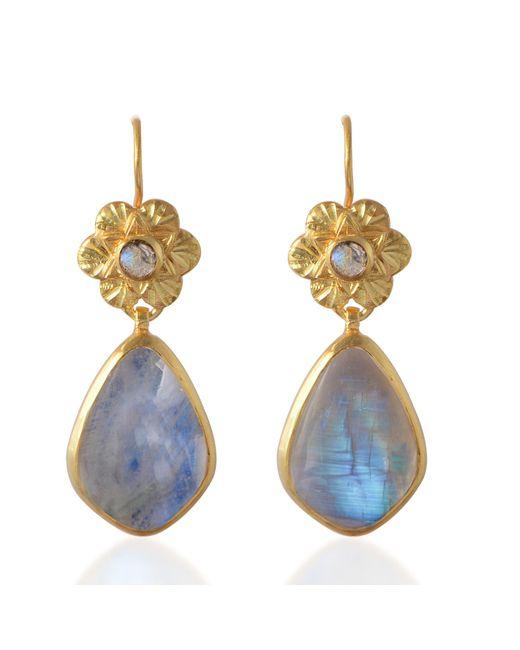Emma Chapman Jewels | White Adila Moonstone Drop Earrings | Lyst