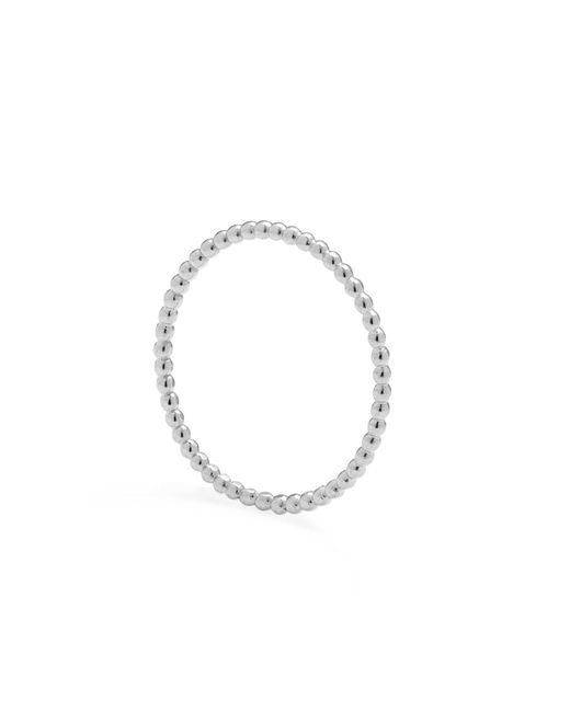 Myia Bonner | Metallic Silver Ultra Skinny Ball Stacking Ring | Lyst