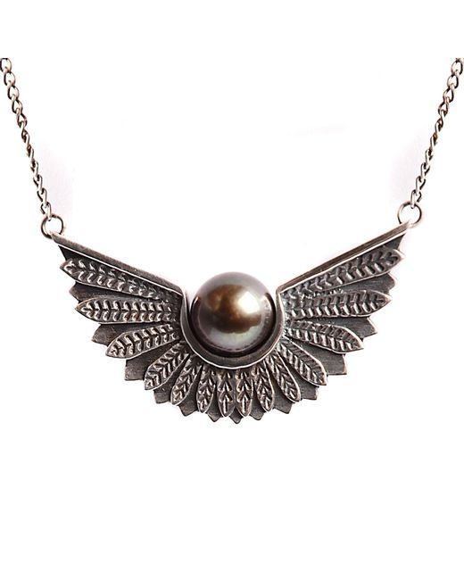 Lee Renee | Metallic Cathy Pearl Necklace | Lyst