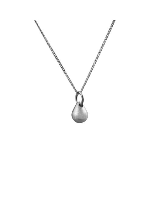 Edge Only - Metallic Teardrop Pendant Silver - Lyst