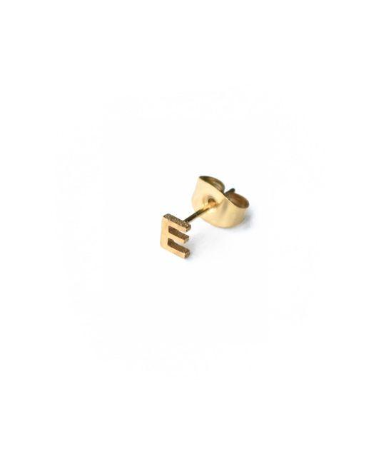 Whistle & Bango | Metallic Little Letter A Earring 18ct Plating | Lyst