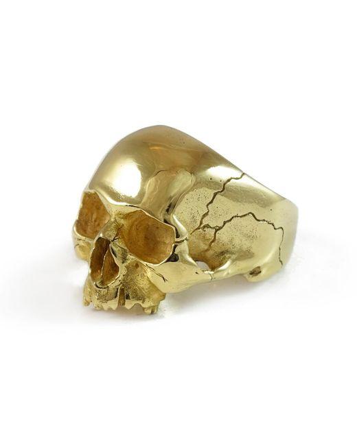 Frederick Grove - Metallic Gold Skull Ring - Lyst