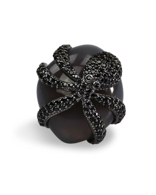 Bellus Domina | Gray Octopus Cocktail Ring | Lyst