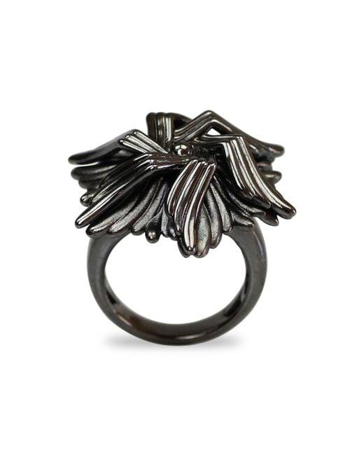 Bellus Domina   Gray Geometric Sea Flower Ring   Lyst
