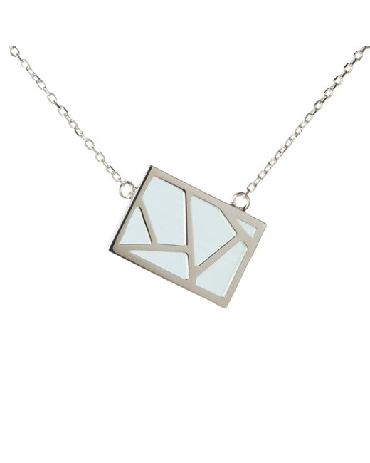 Ona Chan | Metallic Lattice Necklace Blue | Lyst