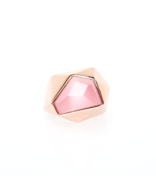 Ona Chan Jewelry | Lattice Cocktail Ring Pink | Lyst