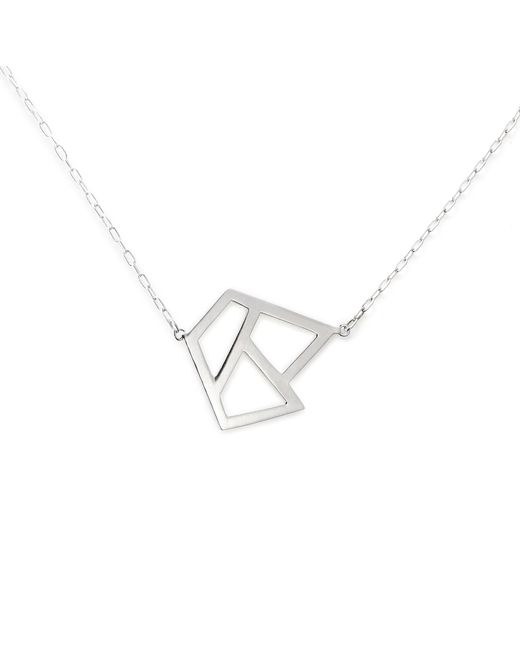 Ona Chan Jewelry | Metallic Triple Lattice Necklace Silver | Lyst