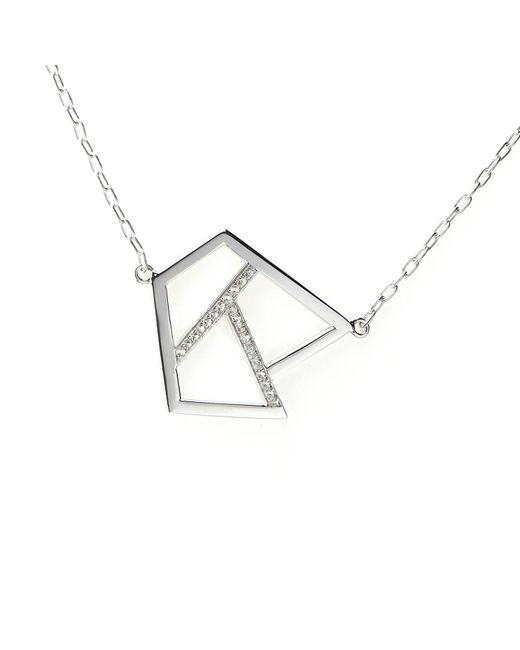 Ona Chan | Metallic Triple Lattice Necklace With Sapphire Silver | Lyst