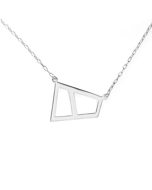 Ona Chan Jewelry | Metallic Double Lattice Necklace Silver | Lyst