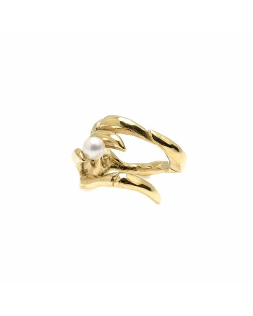 Kim Keohane | Metallic Large Gold Claw Ring With Pearl | Lyst