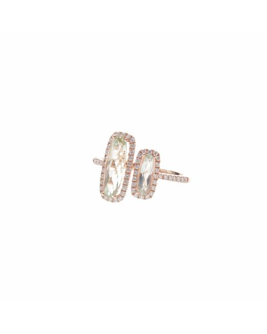 Ri Noor | Multicolor Green Amethyst Double Bar Ring | Lyst