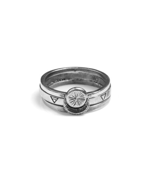 Rachel Entwistle | Metallic Sun Moon Four Elements Rings | Lyst