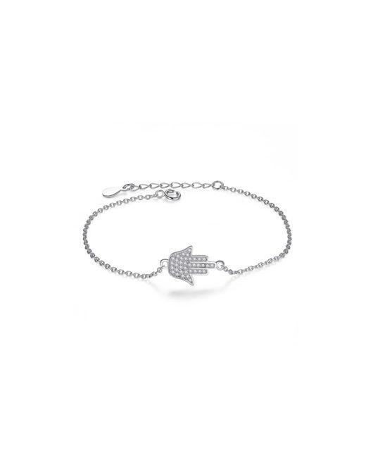 Opes Robur | Metallic Hamsa Hand Sterling Silver Charm Bracelet | Lyst