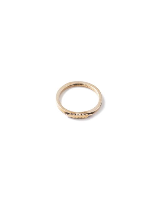 Thacker NYC | Metallic Thacker X Flaca Arrow Ring Brass | Lyst