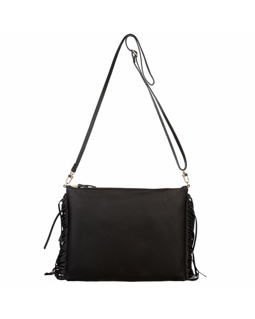 Davina Mulford London | Fringed Cross Body Bag Black | Lyst