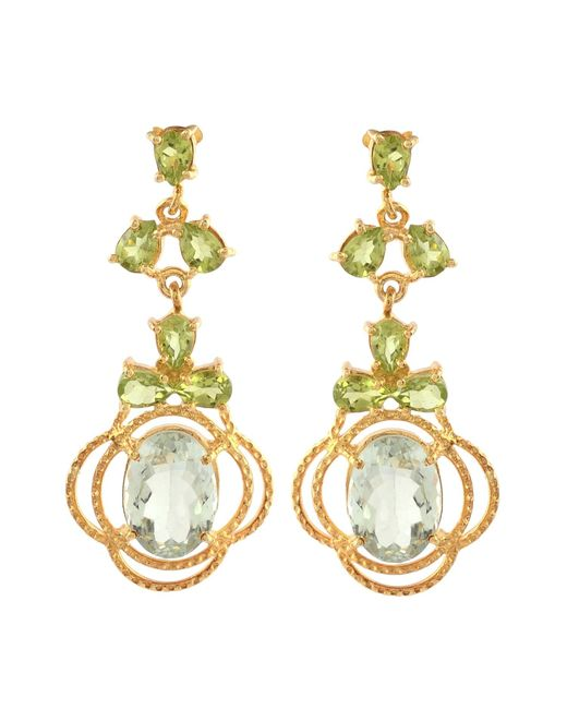 Carousel Jewels | Metallic Peridot & Topaz Statement Earrings | Lyst