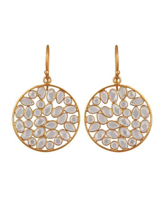 Carousel Jewels   Metallic Sliced Crystal Drop Earrings   Lyst