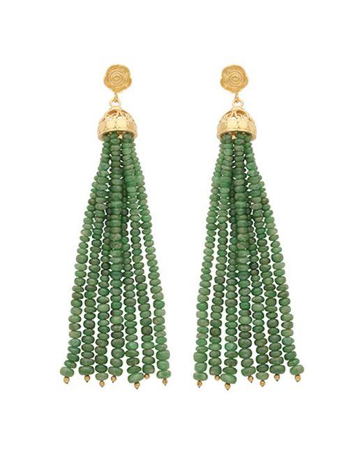 Carousel Jewels | Green Gold & Emerald Waterfall Earrings | Lyst