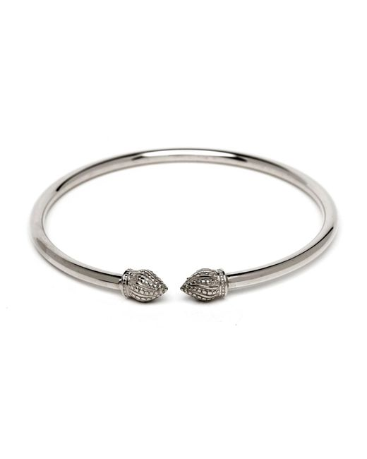 Durrah Jewelry | Metallic Silver Cylinder Bangle | Lyst