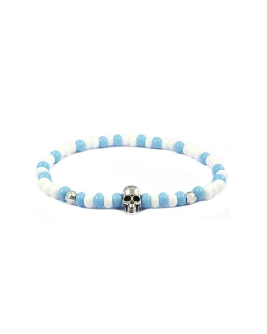 CLARISTE JEWELRY | Men's Skull Bracelet Blue & White for Men | Lyst