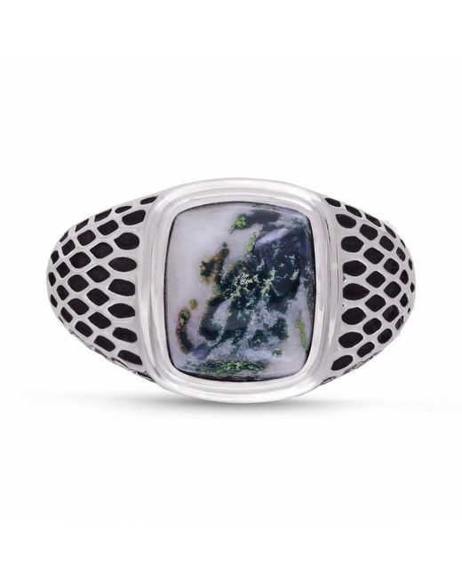 LMJ | Multicolor Tree Agate Stone Ring for Men | Lyst