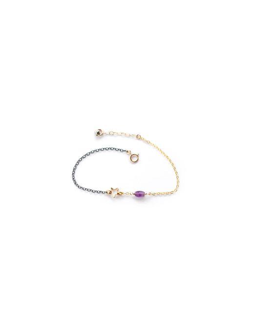Amundsen Jewellery | Metallic Amethyst & Tiny Star Bracelet | Lyst
