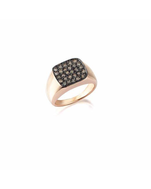 Sadekar Jewellery | Metallic Square Pave Ring | Lyst