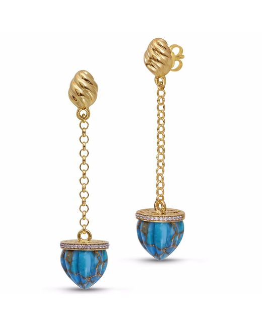 LMJ - Metallic Glory Of The Sun Sling Earrings - Lyst