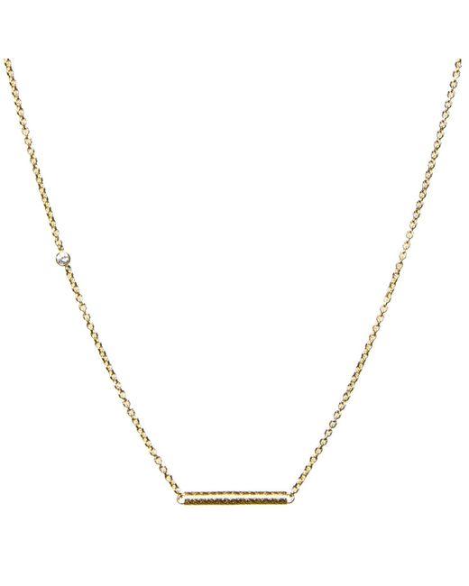 Dutch Basics | Metallic Cylinder Fine Chain Necklace Gold | Lyst