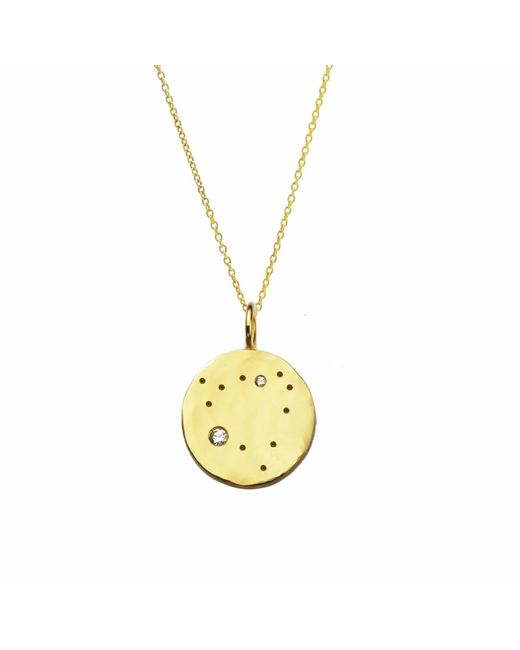 Yvonne Henderson Jewellery - Metallic Capricorn Constellation Necklace With White Sapphires Gold - Lyst