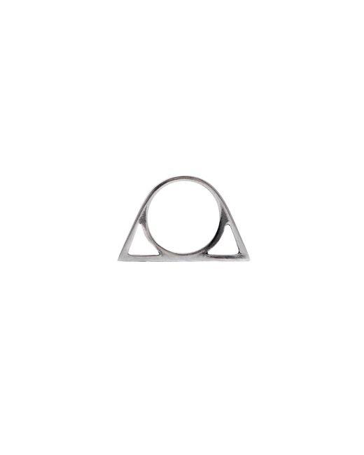 Glenda López | Metallic The Silver Triangle Ring | Lyst
