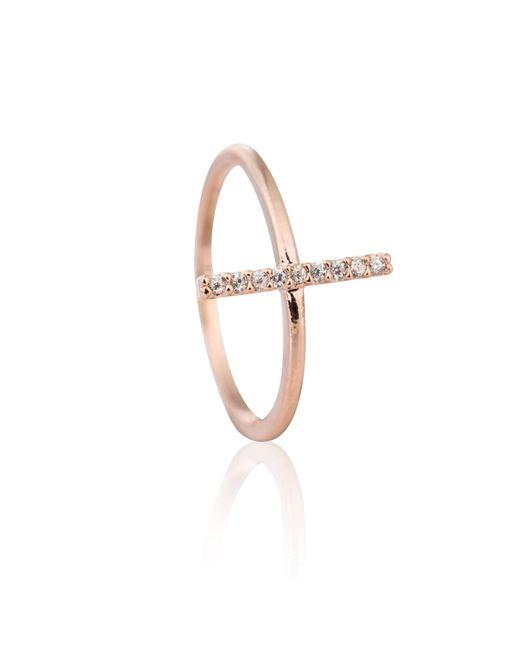 Astrid & Miyu | Metallic Chase Me Midi Ring In Rose Gold | Lyst