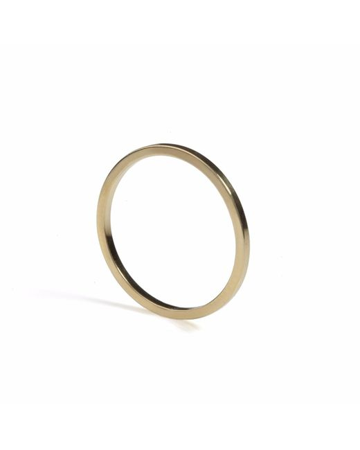 Myia Bonner | Metallic Gold Ultra Skinny Square Stacking Ring | Lyst