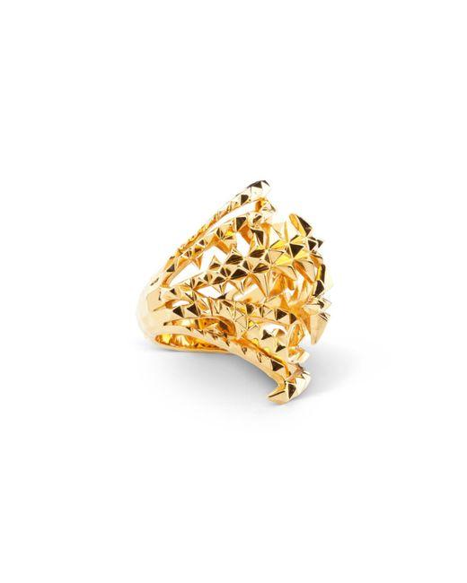 Kasun - Metallic The Blades Of Octopi Gold Ring - Lyst