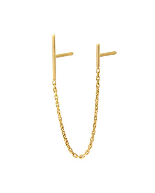 Irena Chmura Jewellery - Metallic Chained Lines Double Earring Single - Lyst