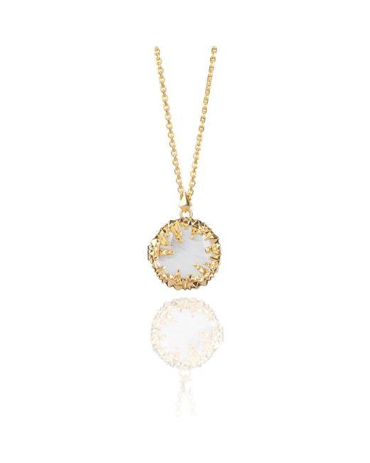 Kasun - Metallic Ivory Pearl Gold Locket - Lyst