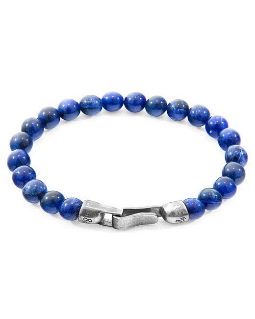 Anchor & Crew - Blue Sodalite Outrigger Silver & Stone Bracelet for Men - Lyst