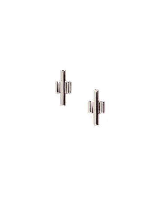 Matthew Calvin | Metallic Silver Tri Studs | Lyst