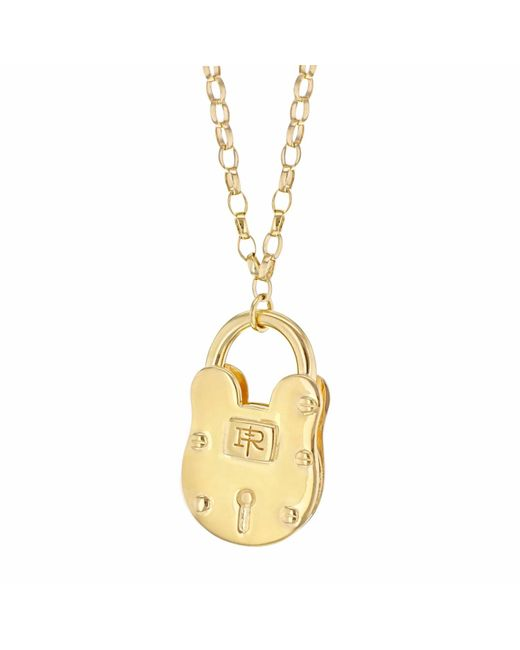 True Rocks - Metallic Large Padlock Yellow Gold Necklace - Lyst